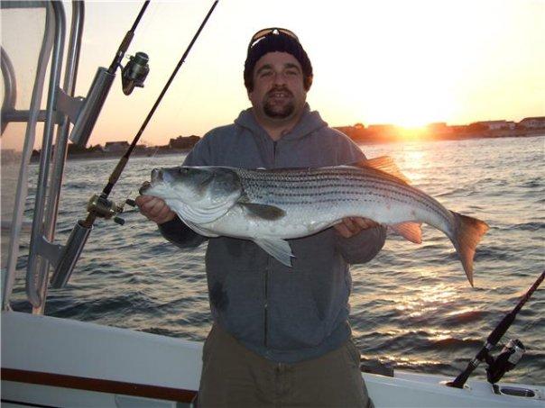 Striper fishing Ocean City NJ